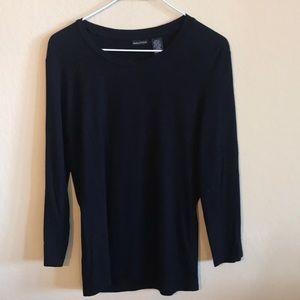 Nautica navy three quarter length sleeve shirt